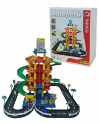 Паркинг 5-уровневый с дорогой и автомобилями Wader 38104