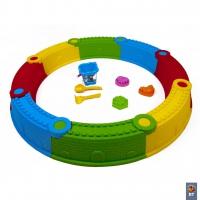 01-118 Песочница Стена Замка Kinderway разноцветная 112х112 см 8 элементов