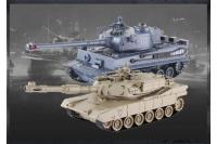 Танковый бой TIGER + Abrams 2.4G ZEGAN 99822