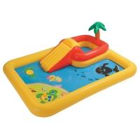 Intex (интекс) Надувной игровой центр Бассейн с горкой океан с распылителем 254х196х79см от 3лет