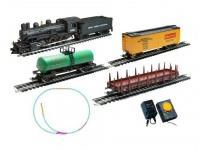 Стартовый набор железной дороги Mehano Паровоз (4-4-0) c пассажирскими вагонами (PR02-260)
