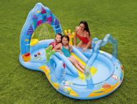 Надувной игровой центр  бассейн с горкой королевство русалочки 279х160х140см