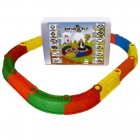 01-120 Песочница Стена Замка Kinderway разноцветная 145х114 см 14 элементов