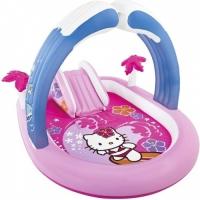 Надувной игровой центр  бассейн с горкой Hello Kitty 211х163х121см