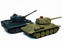Радиоуправляемый танковый бой Abtoys Т34 и Tiger 1:32 Huan QI 508-555