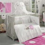 Комплект в кроватку из 6 предметов Kidboo CUTE BEAR PINK