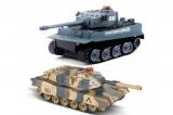 Радиоуправляемый танковый бой 2,4G Tiger vs Leopard 1:24 Huan QI 508C