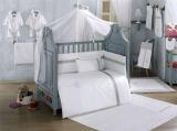 Комплект в кроватку из 6 предметов Kidboo Blossom Linen White