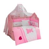 Комплект в кроватку из 6 предметов Kidboo серия Little Rabbit