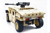 Радиоуправляемый конструктор военный джип QiHui QH8014