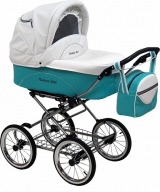 Детская коляска 2 в 1 Maxima Elite XL кожа