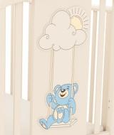 слоновая кость (декор голубой мишка на качелях)