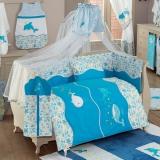 Комплект в кроватку из 6 предметов Kidboo серия SEA LIFE