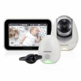 Двухрежимная видеоняня Samsung SEW-3057WP (Wi-Fi и FHSS, датчик окружающей среды, часы с вибрацией)