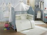 Комплект в кроватку из 6 предметов Kidboo Blossom Linen Vanilla