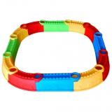 01-119 Песочница Стена Замка Kinderway разноцветная 112х192 см 12 элементов