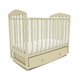 Кровать детская Берёзка (автостенка, закр. ящик, маятник, ПВХ накладка)